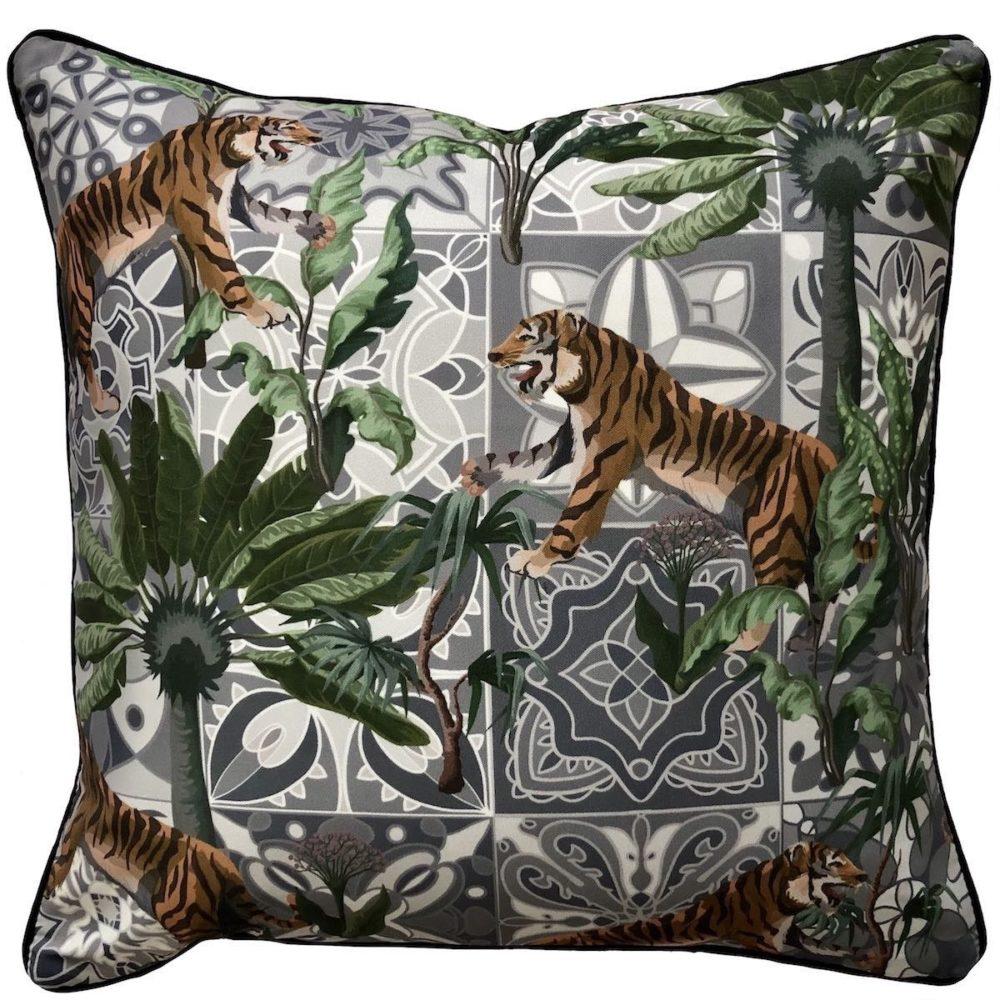 Bengali Tiger Outdoor Cushion