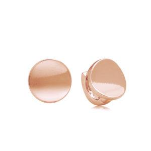 Plain Indented Disc Earring Mezi