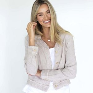 Isabella Linen Jacket Natural Humidity Lifestyle