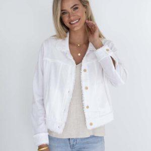 Isabella Linen Jacket White Humidity Lifestyle