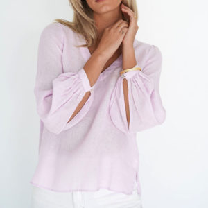 Promise Blouse Lilac Pink Humidity Lifestyle