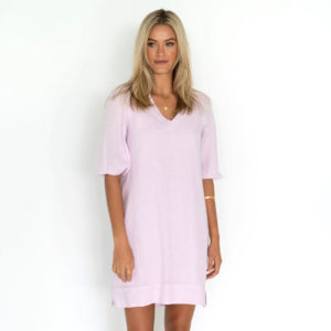 Promise Dress Lilac Pink Humidity Lifestyle