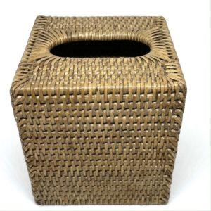 Rattan Square Tissue Box