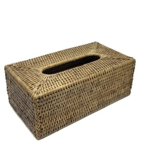 Rattan Rectangle Tissue Box