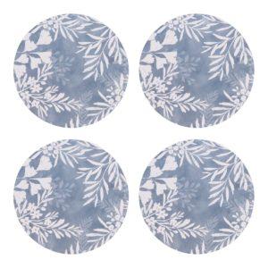 Clover Blue Coaster Set