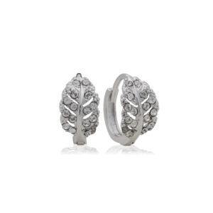 Grecian Leaf Crystal Earring Mezi