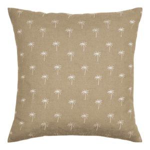 Palm Tree Embroidered Cushion